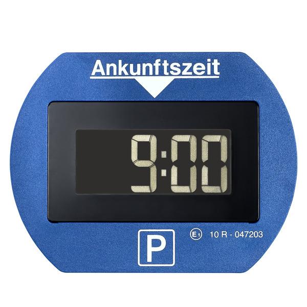 Elektronische Parkscheibe bzw. digitale Parkuhr PARK LITE, automatische Parkzeiteinstellung, blau