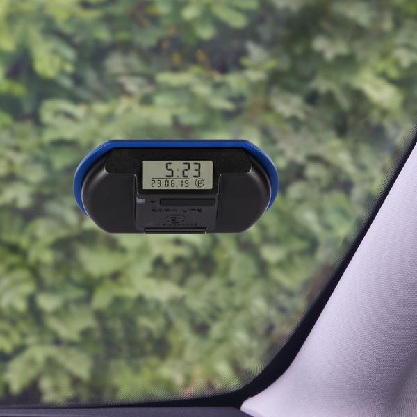 Elektronische Parkscheibe / digitale Parkuhr PARK LITE, automatische Parkzeiteinstellung, blau