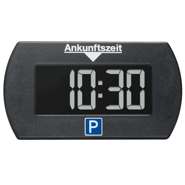 Elektronische Parkscheibe bzw. digitale Parkuhr PARK MINI, automatische Parkzeiteinstellung, schwarz