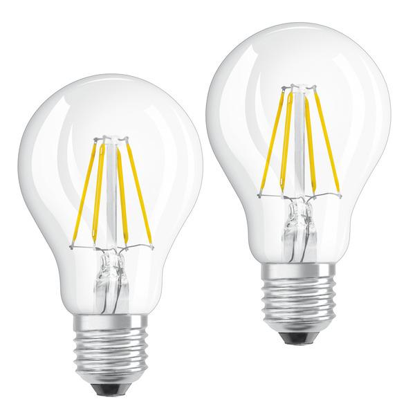 OSRAM 2er Pack 4-W-Filament-LED-Lampen, E27, warmweiß