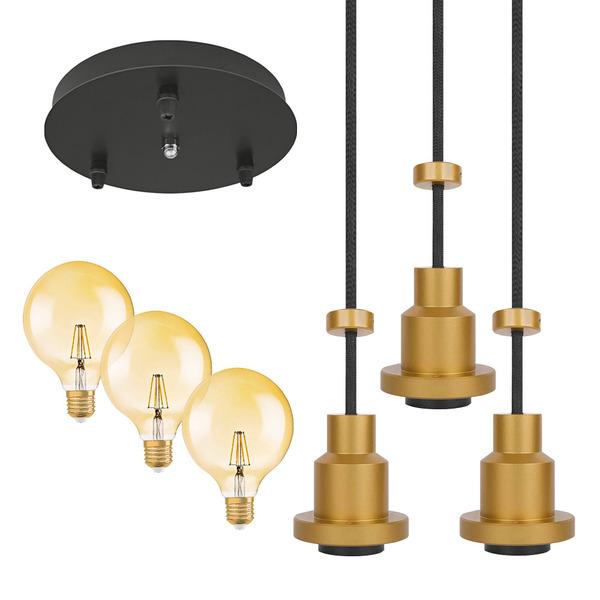 Osram Vintage 1906 Retro Led Leuchte Mit 3x Led Lampen Pendulum Fassungen Baldachin Fassungen Installation Trafos Dimmer Beleuchtung Technik Fur Ihr Zuhause Elv Elektronik