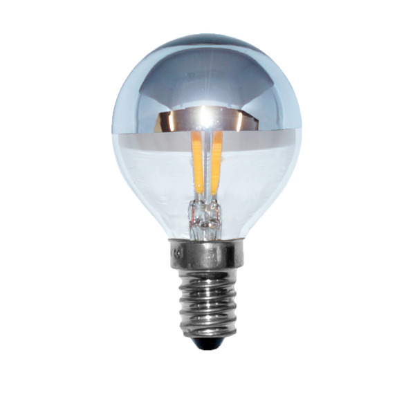 LEDmaxx 2-W-LED-Tropfenlampe E14 mit Kuppe (silber)