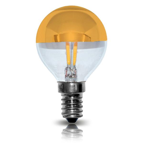 LEDmaxx 2-W-LED-Tropfenlampe E14 mit Kuppe (gold)