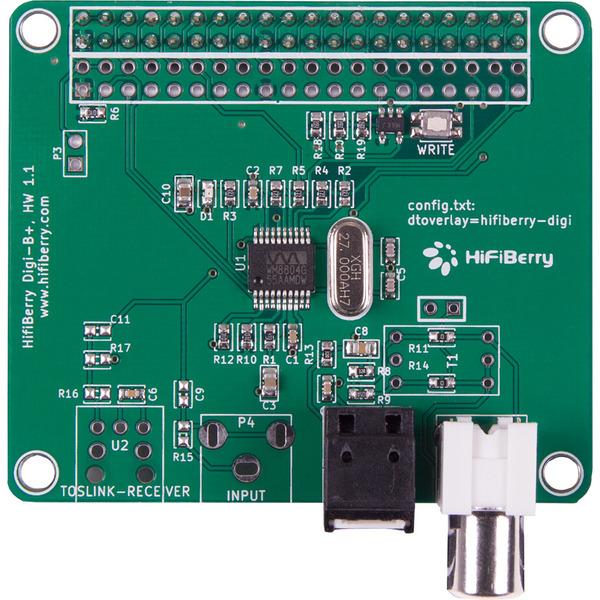 HifiBerry Hifiberry Soundboard DIGI+, für Raspberry Pi A+/B+/2/3