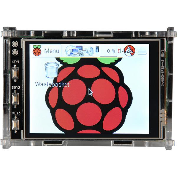 """JOY-iT Acryl Gehäuse für Raspberry Pi und das 8,128-cm-(3.2"""")-Display"""