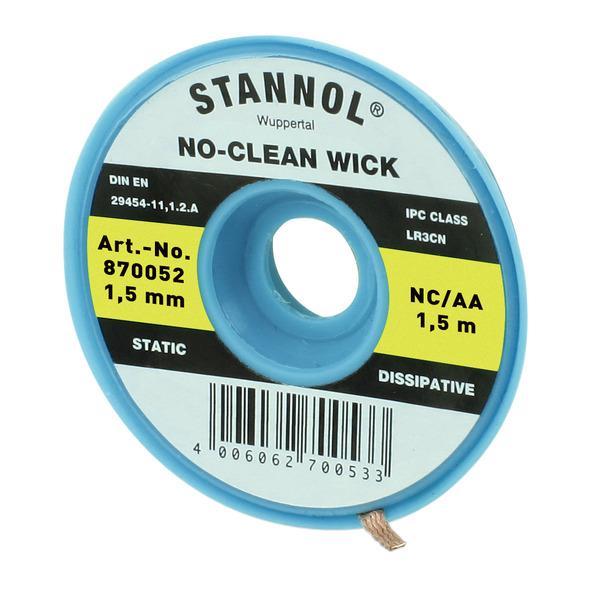 Stannol No-Clean Entlötlitze, ESD-verpackt, 1,5 m lang, 1,5 mm breit