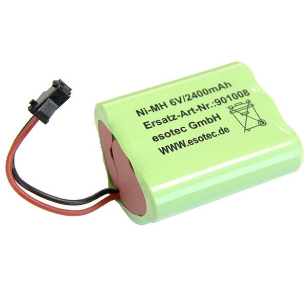 2400-mAh-Ersatz-Akkupack (6 V) für esotec Solar-LED-Fluter
