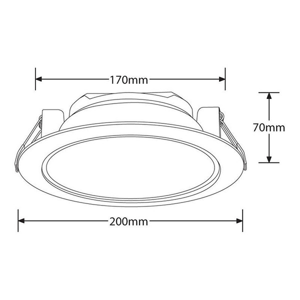 Enlite Lighting Essentials 23-W-LED-Downlight, neutralweiß, IP44