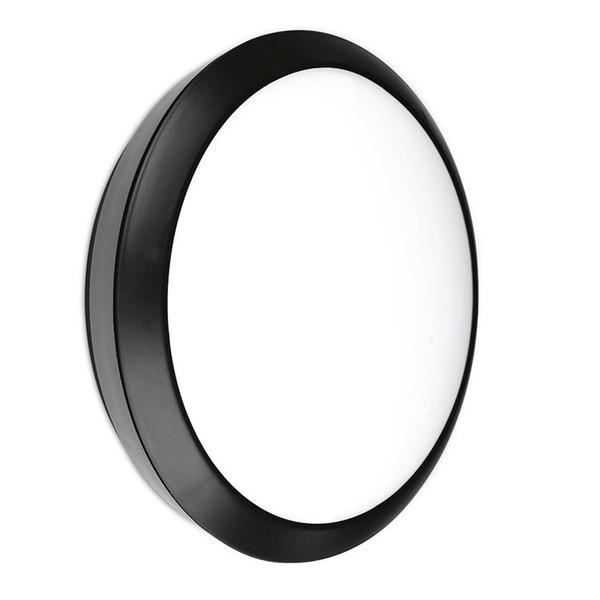 Enlite Lighting Essentials 25-W-Sensor-Wand- und Deckenleuchte mit HF-Sensor, rund, IP66, neutralwe