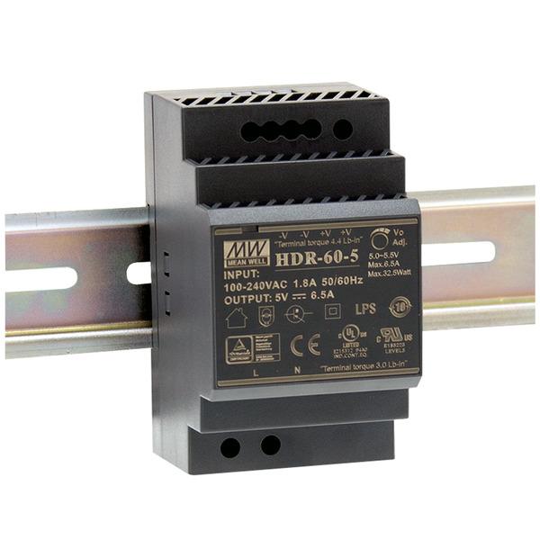 Mean Well Hutschienennetzteil 60 HDR-60-12 12 V, 4,5 A, 54 W, für Smart Home und Haussteuerung