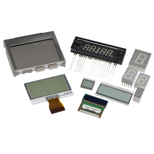 Kemo LED- und LCD-Anzeigen-Sortiment S043, Zufallssortiment, ca. 10 Stück
