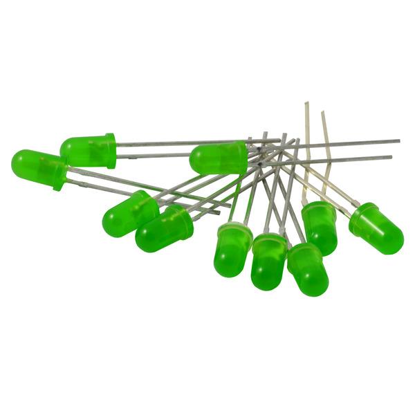 Kemo LED-Sortiment S063, grün, 5 mm Durchmesser, ca. 10 Stück