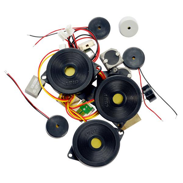 Kemo Piezo-Lautsprecher- und Mikrofone-Sortiment S105, Zufallssortiment, ca. 20 Stück