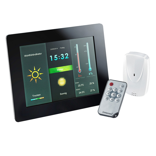 "Intenso Funk-Wetterstation Weather Star, 20,32 cm (8"") TFT-LC-Display, mit digitalem Bilderrahmen, i"