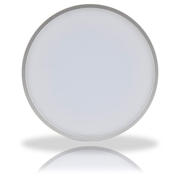LEDmaxx 16-W-LED-Deckenleuchte, rund, silber, warmweißes Licht