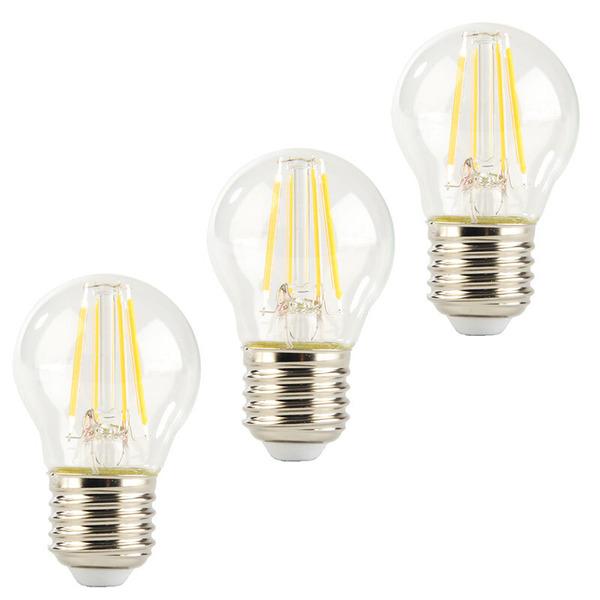 ELV 3er Set FL PREMIUM P40 4-W-LED-Tropfenlampe E27, warmweiß