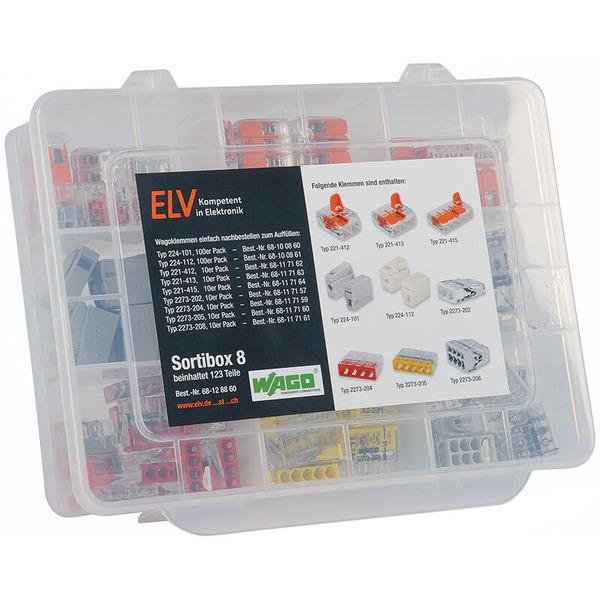 ELV Wago-Sortimentsbox Nr. 8 mit 123 Wago-Klemmen
