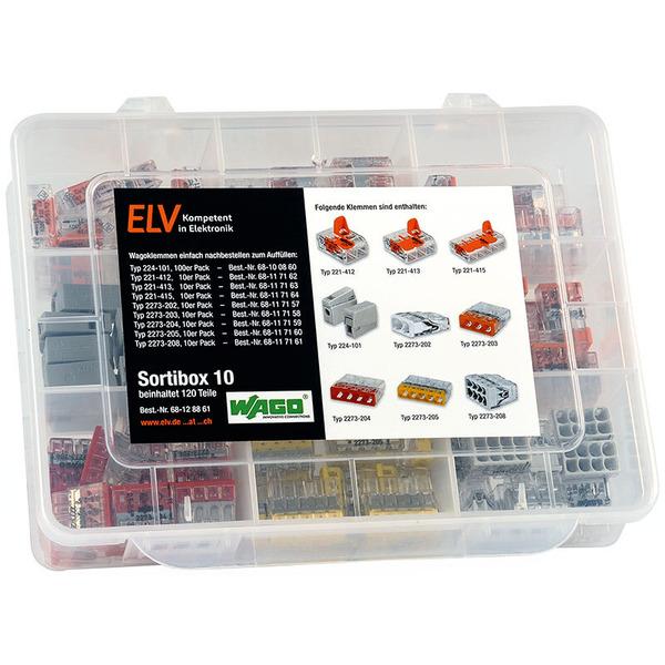 ELV Wago-Sortimentsbox Nr. 10 mit 120 Wago-Klemmen