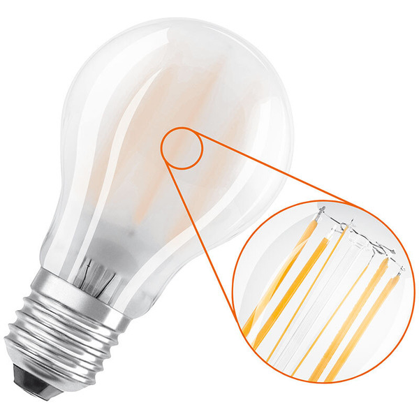OSRAM 3er Set 14-W-Filament-LED-Lampe E27, neutralweiß, matt