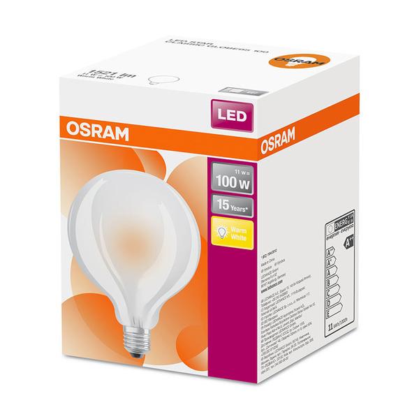 OSRAM LED STAR 11-W-Globe-Filament-LED-Lampe E27, matt