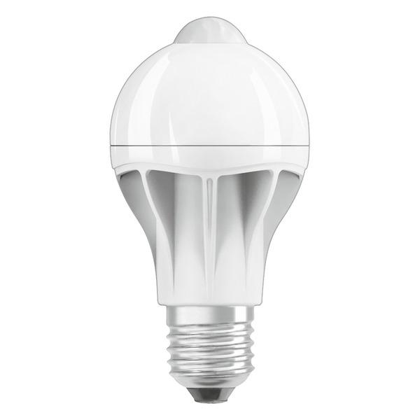 OSRAM LED STAR PLUS MOTION 9-W-Sensor-LED-Lampe E27 mit PIR-Bewegungsmelder, warmweiß