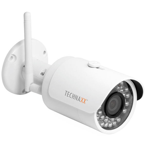 Technaxx WLAN-IP-Bulletkamera TX-65, 2,6 mm Fixobjektiv, 30 m IR-Reichweite