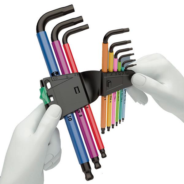 Wera 950 SPKL/9 SM HF Multicolour Winkelschlüsselsatz, metrisch, BlackLaser mit Haltefunktion