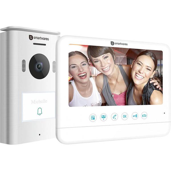 Smartwares 2-Draht-Video-Türsprechanlage für 1-Familienhaus mit 17,78-cm-Bildschirm