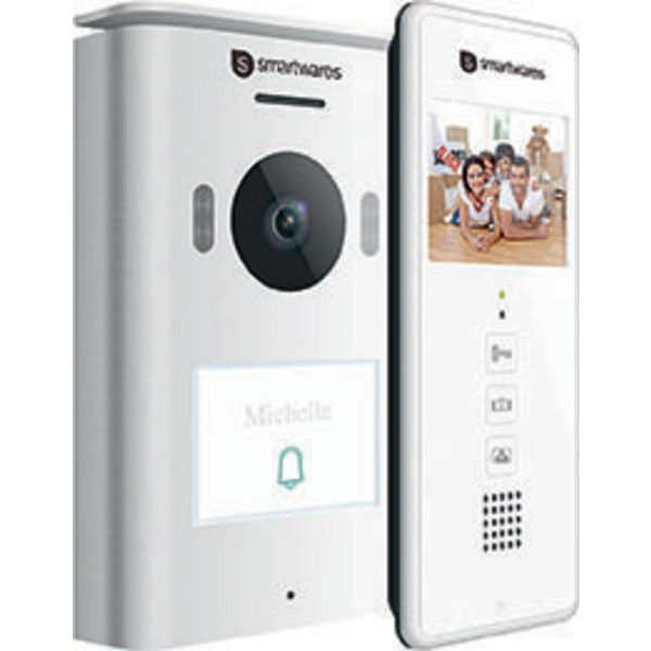 Smartwares 2-Draht-Video-Türsprechanlage für 1-Familienhaus mit 8,89-cm-Bildschirm