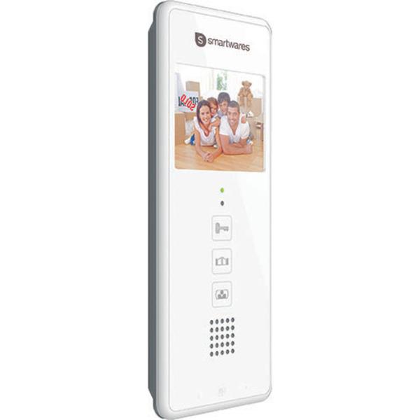 Smartwares Zusatz-Inneneinheit für 2-Draht-Video-Türsprechanlage mit 8,9-cm-Bildschirm