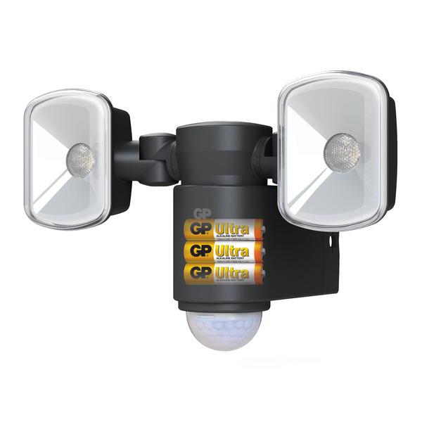 GP Lighting Safeguard Batterie-LED-Fluter mit 2 ausrichtbaren Spots