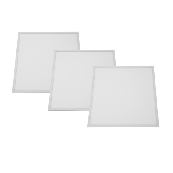 Shada 3er Set 38-W-LED-Einlegepanel 620 x 620 mm, neutralweiß, IP20