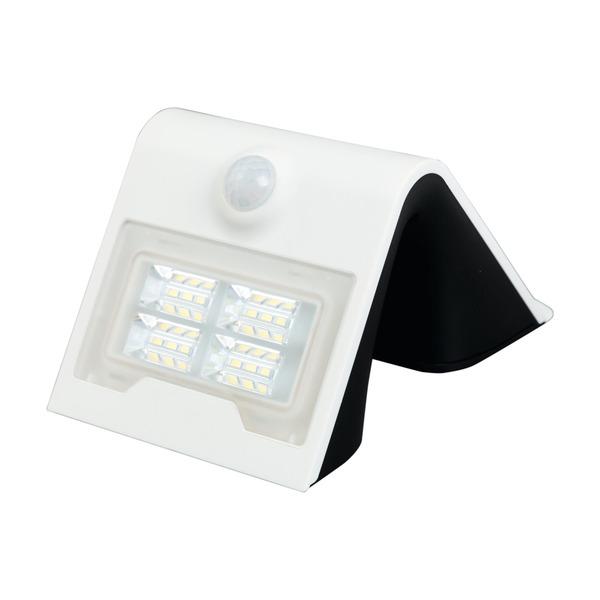 HEITRONIC 2-W-Solar-LED-Wandleuchte mit 120°-Bewegungsmelder, warmweiß