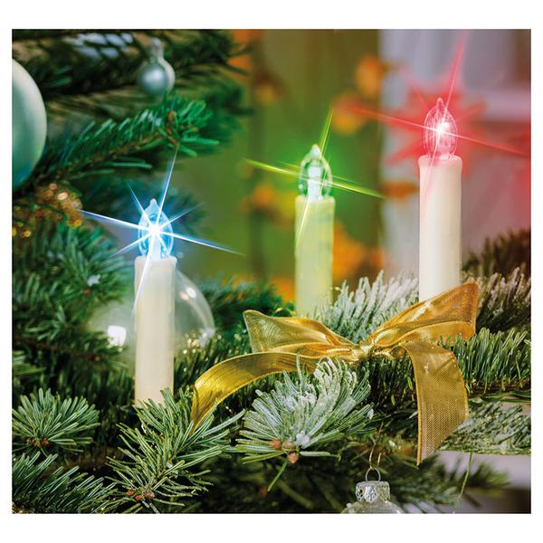 20er Set Mini-LED-Baumkerzen 6in1, warmweiß, mit IR-Fernbedienung und RGB-Farbwechsel