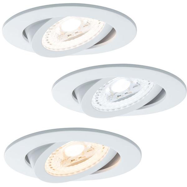 Paulmann SmartHome ZB Lens 3er-Set 3,5-W-LED-Einbauleuchte, TunableWhite, weiß matt