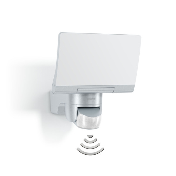 Steinel Sensor-LED-Flutlichtstrahler XLED Home 2, silber, Z-Wave