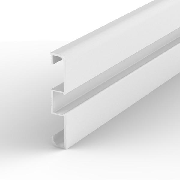 1-m-LED-Fußleisten-Aluminiumprofil P15-1 für LED-Streifen