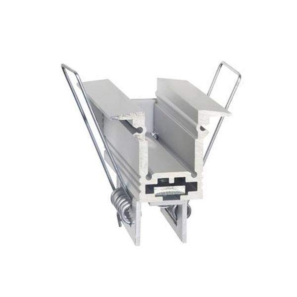 Barthelme Montagehalterung mit Spannfeder für T-Aluprofil