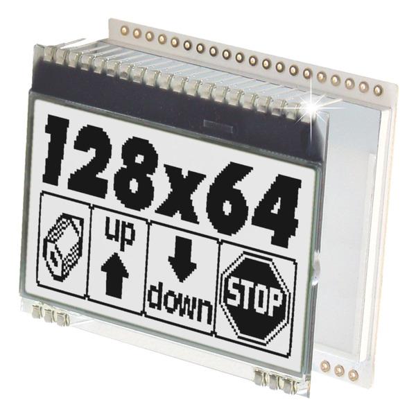 Electronic Assembly LCD-Grafikdisplay EA DOGM128 128x64 Pixel, FSTN schwarz/weiß