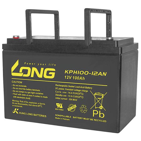 Kung Long Blei-AGM-Akku KPH100-12AN, 12 V, 100 Ah