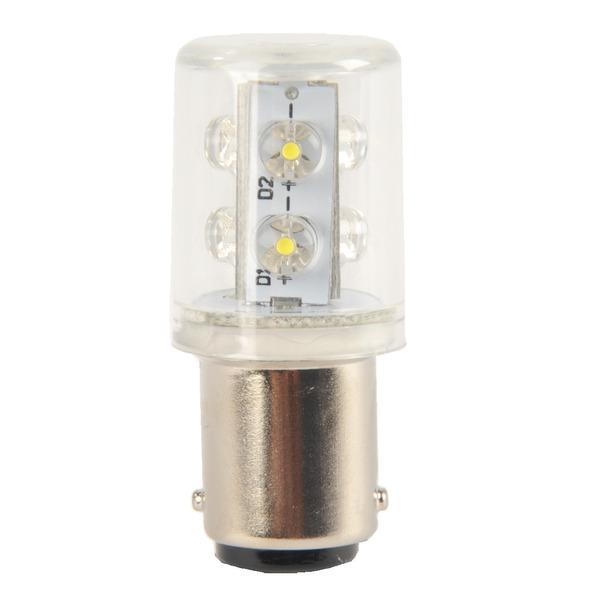 Barthelme LED 360° Rundumleuchte mit 6 LEDs, Ba15d, 240VAC, 20x45mm, gelb, typ. 5lm