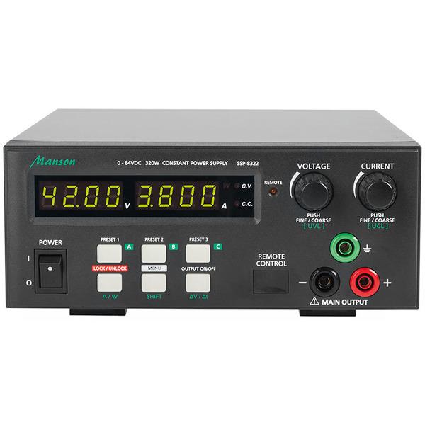 Manson Laborschaltnetzteil SSP-8322 (0-84 V / 0-10 A) mit USB-Schnittstelle, programmierbar
