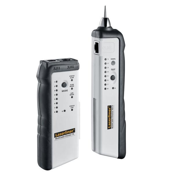 Laserliner LAN CableChecker 083.062A für LAN-, SAT-, TV-, Telefon-, Audiokabel