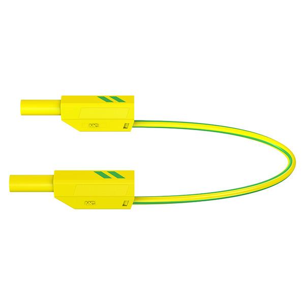 Sicherheitsmessleitungen in PVC (SLK425-E/N) 4mm, 32A, 0,5m, grüngelb