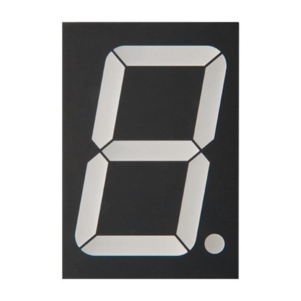 Lucky Light 7-Segment-Anzeige KW1-2301AWB, weiß, 56,8 mm