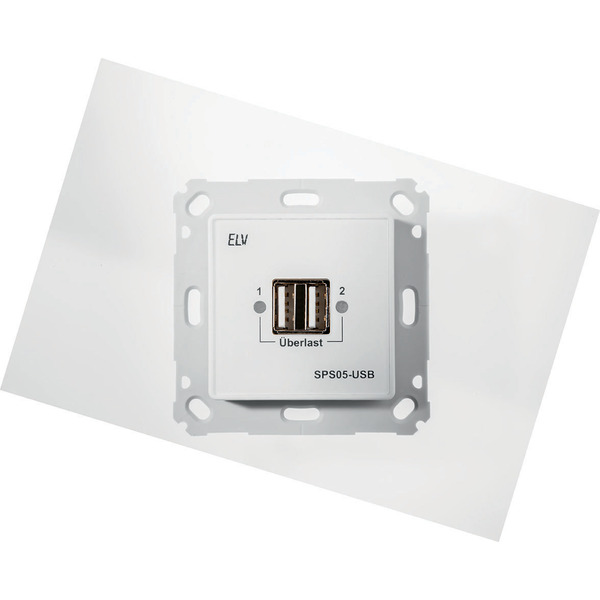 ELV Unterputz Schaltnetzteil mit USB-Buchse SPS05-USB, Komplettbausatz ohne Rahmen