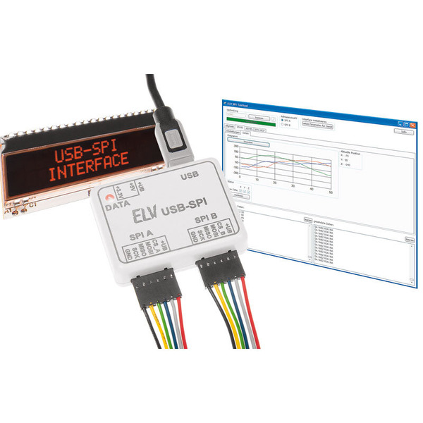ELV Komplettbausatz USB-SPI-Interface USB-SPI