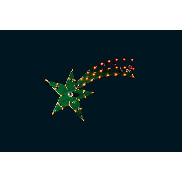 ELV LED-Weihnachtsstern LED-WS1, Komplettbausatz inkl. LEDs (orange) und 5 m Netzteilverlängerung