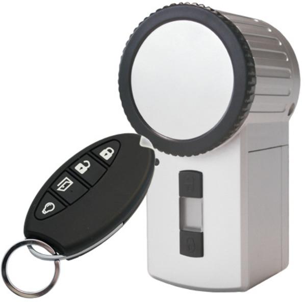 Homematic 131762 Funk-Türschlossantrieb KeyMatic, silber inkl. Funk-Handsender für Smart Home / Haus