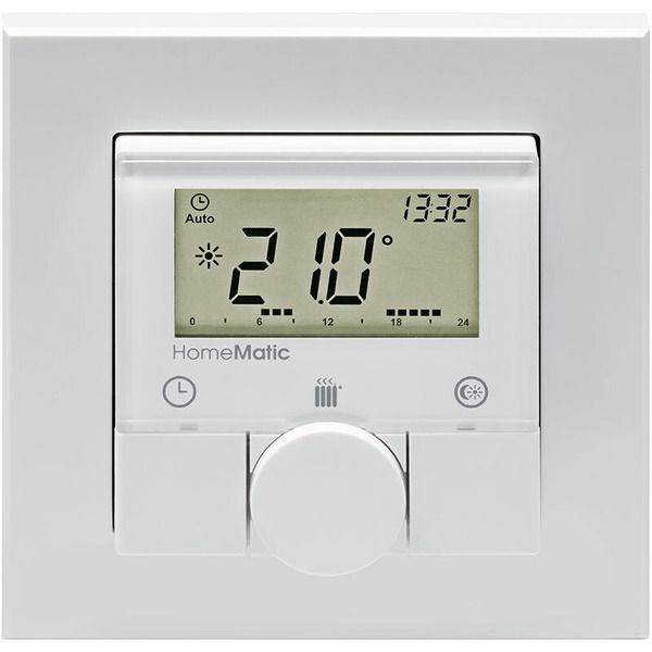 ELV Homematic ARR-Bausatz Funk-Wandthermostat HM-TC-IT-WM-W-EU, für Smart Home / Hausautomation